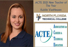 Kaitlin VanHeusen Named ATCE 2021 New Teacher of the Year!